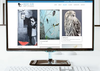 Cheeky Bird Art Studio – Website